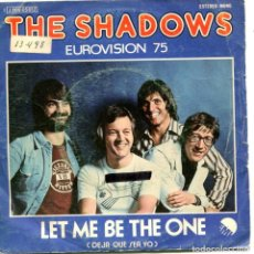 Discos de vinilo: THE SHADOWS / LET ME BE THE ONE (EUROVISION 75) / STAND UP LIKE A MAN (SINGLE PROMO 1975). Lote 111720739