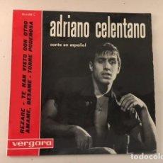 Discos de vinilo: ADRIANO CELENTANO – REZARE + 3 / EP 4 TEMAS - VERGARA – 35.6.020 C - ED ESP 1963. Lote 111779175