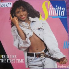Discos de vinilo: MAXI - SINITTA - FEELS LIKE THE FIRST TIME / INSTRUMENTAL VERSION (SPAIN, FONOMUSIC 1986). Lote 111794187