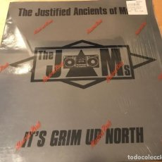 Discos de vinilo: KLF - THE JUSTIFIED ANCIENTS OF MUMU - THE JAMS - IT'S GRIM UP NORTH - VINILO. Lote 111813039