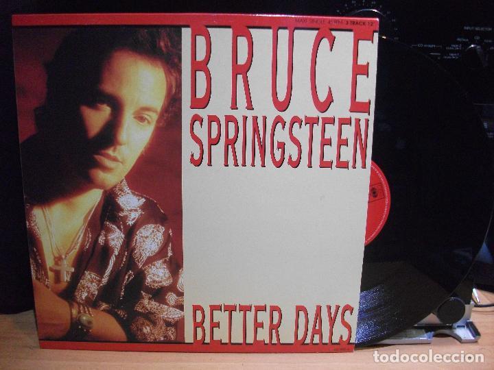 BRUCE SPRINGSTEEN BETTER DAYS MAXI SPAIN 1992 PEPETO TOP (Música - Discos de Vinilo - Maxi Singles - Pop - Rock Internacional de los 90 a la actualidad)