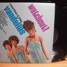 Discos de vinilo: MARTHA & THE VANDELLAS WATCHOUT ! LP USA 1966 PEPETO TOP . Lote 111821627