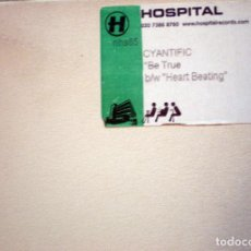 Discos de vinilo: CYANTIFIC – BE TRUE / HEART BEATING - HOSPITAL RECORDS UK 2003 DRUM N BASS . Lote 111852387