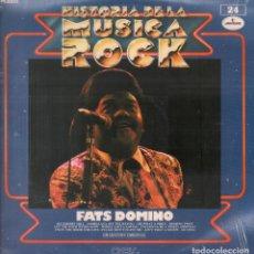 Discos de vinilo: FATS DOMINO - LP HISTORIA DE LA MUSICA ROCK Nº 24 / LP MERCURY DE 1982 RF-4365 , PERFECTO ESTADO. Lote 111865383