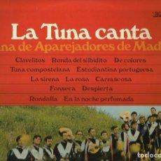 Discos de vinilo: TUNA DE APAREJADORES DE MADRID-LA TUNA CANTA. LP. SELLO CLAVE. EDITADO EN ESPAÑA. AÑO 1969. Lote 111871343