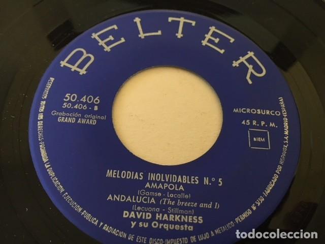 Discos de vinilo: DAVID HARKNESS - MELODIAS INOLVIDABLES Nº 5 MARTA - ANDALUCIA + 2 / EP belter 1961 - Foto 4 - 111891147