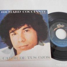 Dischi in vinile: RICHARD COCCIANTE-SINGLE AL CALOR DE TUS OJOS-EN ESPAÑOL-NUEVO. Lote 111903715