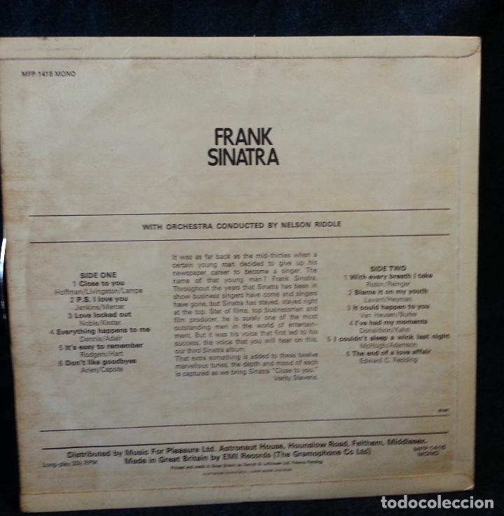 Discos de vinilo: LP VINILO FRANK SINATRA 1957 - Foto 3 - 111927667