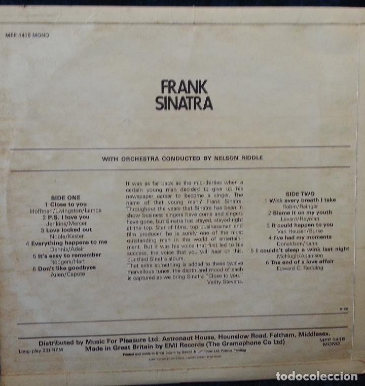 Discos de vinilo: LP VINILO FRANK SINATRA 1957 - Foto 4 - 111927667