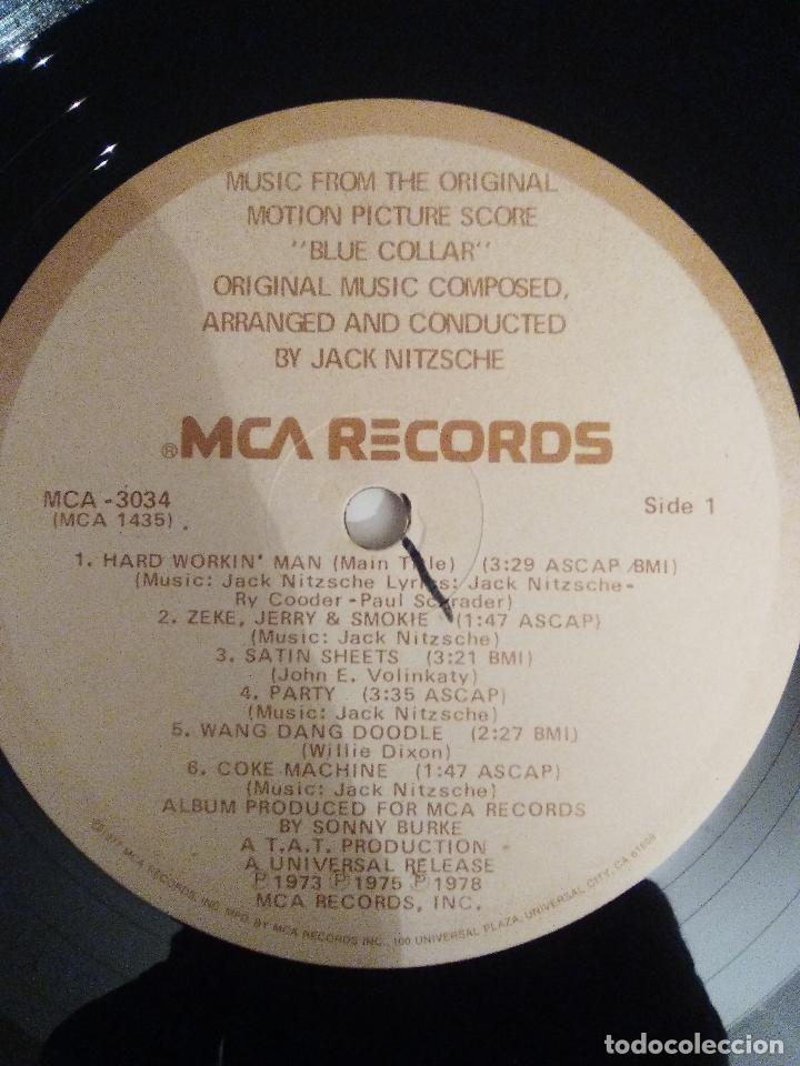 Discos de vinilo: BLUE COLLAR ( 1978 MCA USA ) JACK NITZSCHE CAPTAIN BEEFHEART HOWLIN' WOLF LYNYRD SKYNYRD - Foto 4 - 111936311