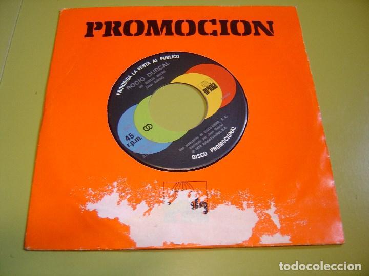 SINGLE PROMOCIONAL 1978 - ROCIO DURCAL ME GUSTAS MUCHO + LA MUERTE DEL PALOMO - ARIOLA (Música - Discos - Singles Vinilo - Solistas Españoles de los 50 y 60)