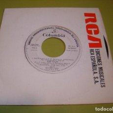 Discos de vinilo: SINGLE PROMOCIONAL 1985 - JOSE VELEZ - REPROCHES + QUE NO PARE EL AMOR - COLUMBIA. Lote 111968783