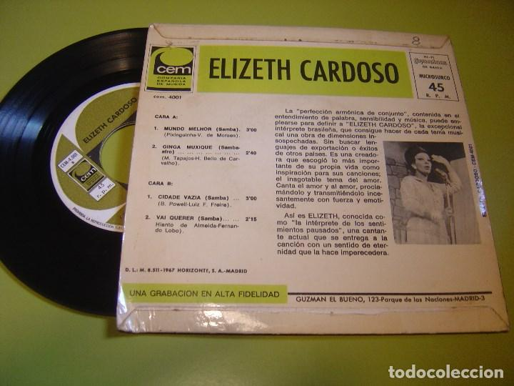 Discos de vinilo: EP 1967 - ELIZETH CARDOSO - ginga muxique - CEM - Foto 2 - 111968979