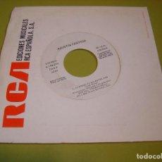 Discos de vinilo: SINGLE PROMOCIONAL 1986 - AGUSTIN PANTOJA - CUANDO TU NO ESTES + TE ESPERARE - ARIOLA. Lote 111976427