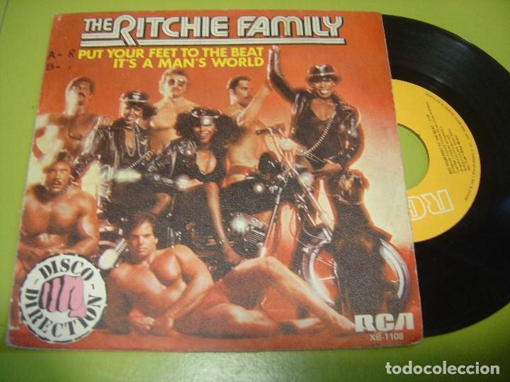 SINGLE 1979 - THE RITCHIE FAMILY - PUT YOUR FEET TO THE BEAT + IT´S A MAN´S WORLD - RCA (Música - Discos - Singles Vinilo - Funk, Soul y Black Music)