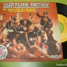Discos de vinilo: SINGLE 1979 - THE RITCHIE FAMILY - PUT YOUR FEET TO THE BEAT + IT´S A MAN´S WORLD - RCA. Lote 111993303