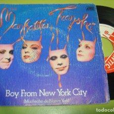 Discos de vinilo: SINGLE 1981 - MANHATTAN TRANSFER - BOY FROM NEW YORK CITY + THE WORD OF CONFIRMATION - ATLANTIC. Lote 111995143