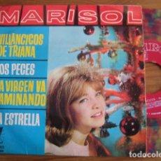 Discos de vinilo: MARISOL - VILLANCICOS DE TRIANA ****** RARO EP ESPAÑOL 1963 VINILO COLOR. Lote 112031987