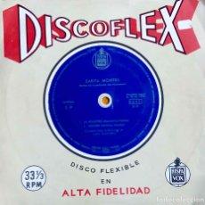 Discos de vinilo: SARITA MONTIEL SARA, LA VIOLETERA. DISCO FLEXIBLE 33 1/3 RPM. SINGLE ESPAÑA. Lote 112056351
