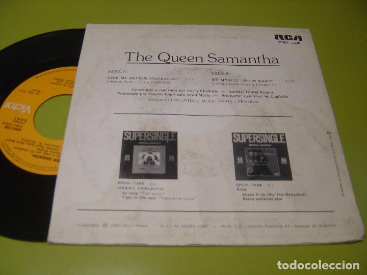 Discos de vinilo: SINGLE 1982 - THE QUEEN SAMANTHA - give me action + by myself - RCA - Foto 2 - 112060479