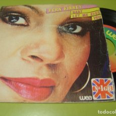 Discos de vinilo: SINGLE 1980 - FERN KINNEY - BABY LET ME KISS YOU + TOGETHER WE ARE BEAUTIFUL - WEA. Lote 112062479