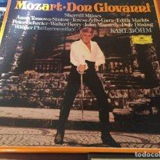 Discos de vinilo: MOZART- DON GIIOVANNI, BACH- THE ART OF FUGUE, HANDEL- EL MESIAS. Lote 112063847
