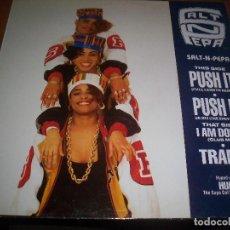 Discos de vinilo: SALT N PEPA. PUSH IT. EDICION POLYGRAM DE 1989. . Lote 112067191