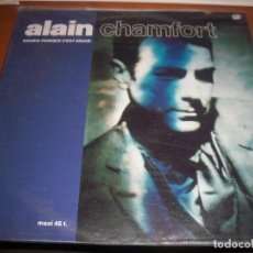 Discos de vinilo: ALAIN CHAMFORT, SOURIS PUISQUE C'EST GRAVE. EDICION CBS DE 1990.. Lote 112076123