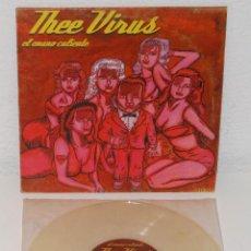Discos de vinilo: THEE VIRUS EL ENANO CALIENTE 10 MINI LP 2000 CORUÑA GARAGE ROCK VINYL EL BEASTO. Lote 112077691