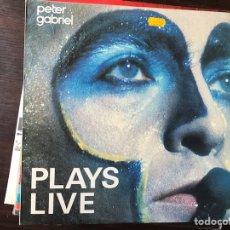 Discos de vinilo: PLAYS LIVE. PETER GABRIEL. Lote 112100490