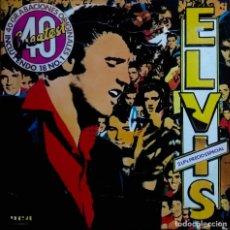 Discos de vinilo: ELVIS PRESLEY. 40 GRABACIONES ORIGINALES. INCLUYE 18 NÚMEROS 1. DOBLE LP ESPAÑA, 2 DISCOS. Lote 112101731