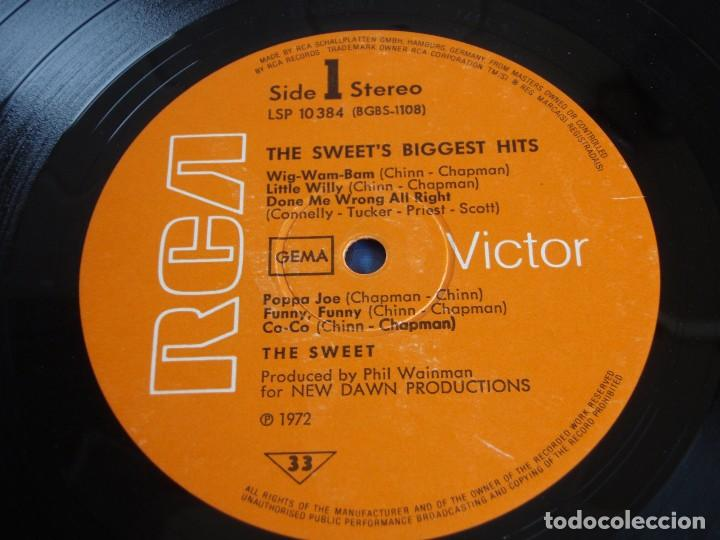 Discos de vinilo: THE SWEET ( THE SWEET'S BIGGEST HITS ) 1972-GERMANY LP33 RCA VICTOR - Foto 5 - 112135043
