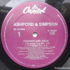 Discos de vinilo: ASHFORD & SIMPSON – COOKIES AND CAKE. EDICION US. Lote 112148111