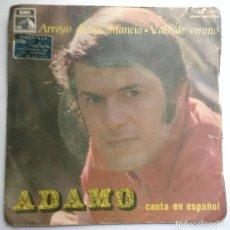 Discos de vinilo: ADAMO - CANTA EN ESPAÑOL ARROYO DE MI INFANCIA VALS DEL VERANO. Lote 112149707