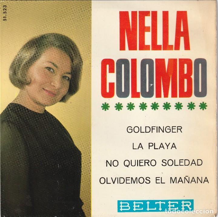 NELLA COLOMBO - GOLDFINGER + 3 (EP BELTER 1965) JAMES BOND (Música - Discos de Vinilo - EPs - Canción Francesa e Italiana)