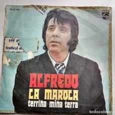 Discos de vinilo: ALFREDO: LA MAROLA / TERRIÑA MIÑA TERRA. Lote 112163743