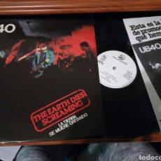 Discos de vinilo: UB40 MAXI PROMOCIONAL THE EARTH DIES SCREAMING.ESPAÑA 1981.CON HOJAS PROMO.A ESTRENAR. Lote 112167663