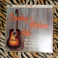 Discos de vinilo: COUNTRY AND WESTERN HITS MADE FAMOUS BY AMERICA'S GREATEST SINGERS 5LP. Lote 112176755