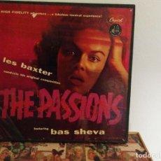 Discos de vinilo: LES BAXTER - THE PASSIONS - FEATURING BAS SHEVA - CAPITOL 1954. Lote 112182383