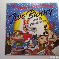 Discos de vinilo: JIVE BUNNY AND THE MASTERMIXERS,,LET'S PARTY & AULD LAND SYNE,,. Lote 112203115
