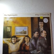 Discos de vinilo: THE NIGHTINGALES,,, WHAT A CARRY ON. REF-YUS.4. Lote 112209543