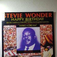 Discos de vinilo: STEVE WONDER,,,, HAPPY BIRTHDAY,,,,I HAVE DREAM..REF.SPCO-60112. Lote 112210707