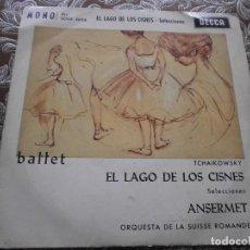 Discos de vinilo: TCHAIKOWSKY - EL LAGO DE LOS CISNES (ANSERMET Y ORQUESTA SUISSE ROMANDE. Lote 112218739