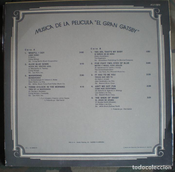 Discos de vinilo: El Gran Gatsby- The Great Gatsby LP 1974 banda sonora - Foto 2 - 112221475