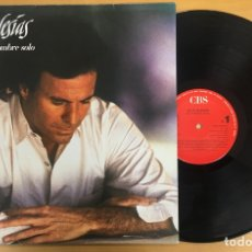 Discos de vinilo: LP JULIO IGLESIAS - UN HOMBRE SOLO. CBS. 1987. Lote 112225159