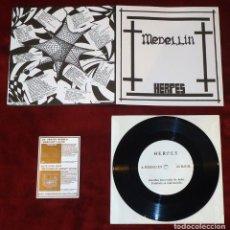 Discos de vinilo: HERPES - MEDELLÍN - 7'' [FUCK YOGA RECORDS, 2013]. Lote 112231959