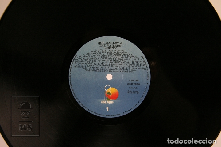 Discos de vinilo: Disco De Vinilo - Bob Marley And The Wailers / Legend - Island - 1984 - Foto 2 - 112240968