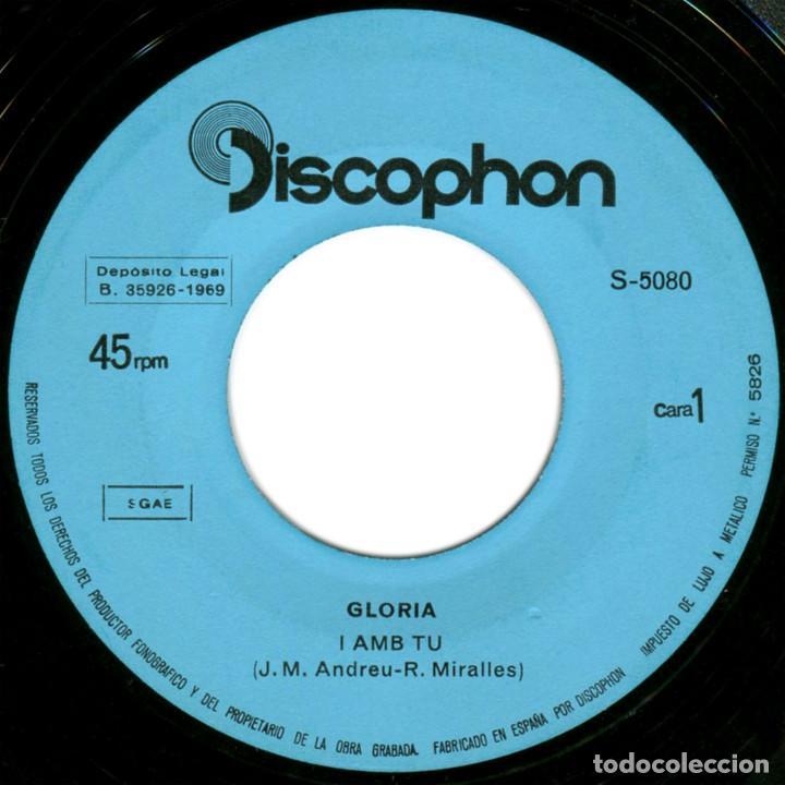 Discos de vinilo: Glòria - I Amb Tu (II Festival Internacional De Barcelona) - Sg Spain 1969 - Discophon S-5080 - Foto 3 - 112248183