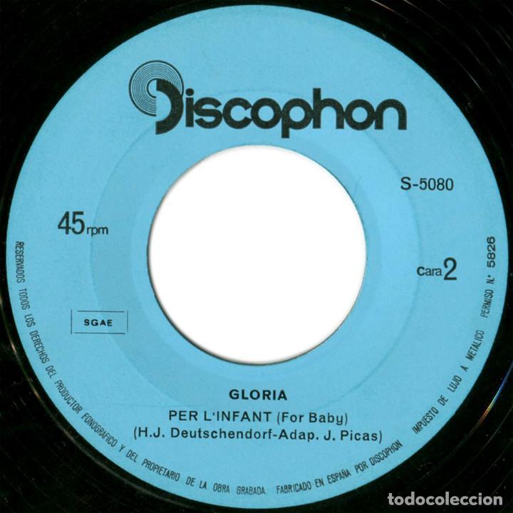 Discos de vinilo: Glòria - I Amb Tu (II Festival Internacional De Barcelona) - Sg Spain 1969 - Discophon S-5080 - Foto 4 - 112248183