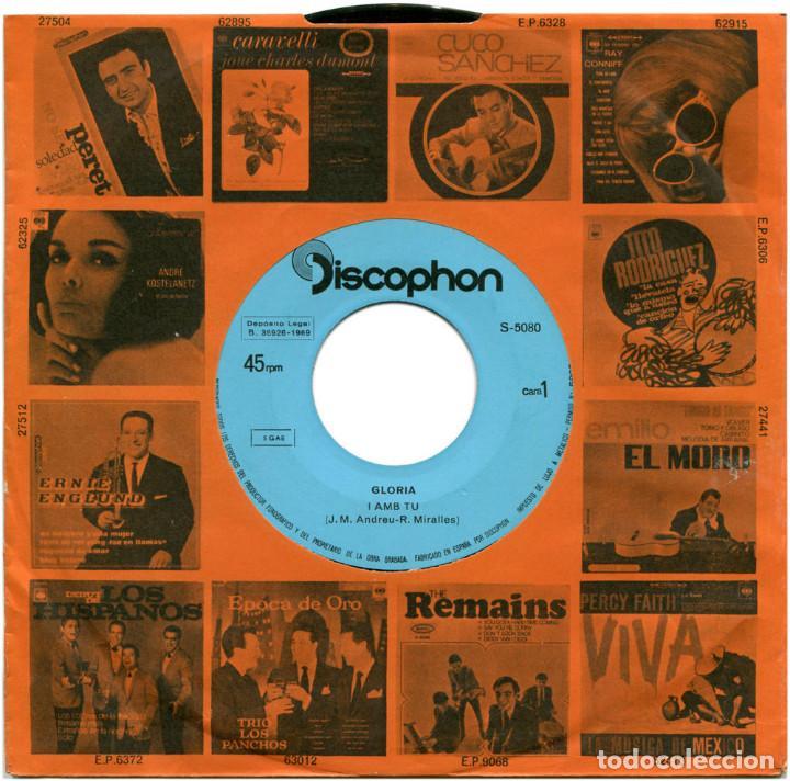 Discos de vinilo: Glòria - I Amb Tu (II Festival Internacional De Barcelona) - Sg Spain 1969 - Discophon S-5080 - Foto 7 - 112248183